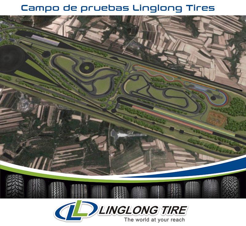 Vista aérea del nuevo campo de pruebas Linglong Tires